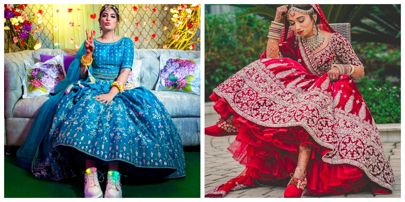 7 Brides who Ditched Heels and Chose Sneakers for their Wedding Outfits!