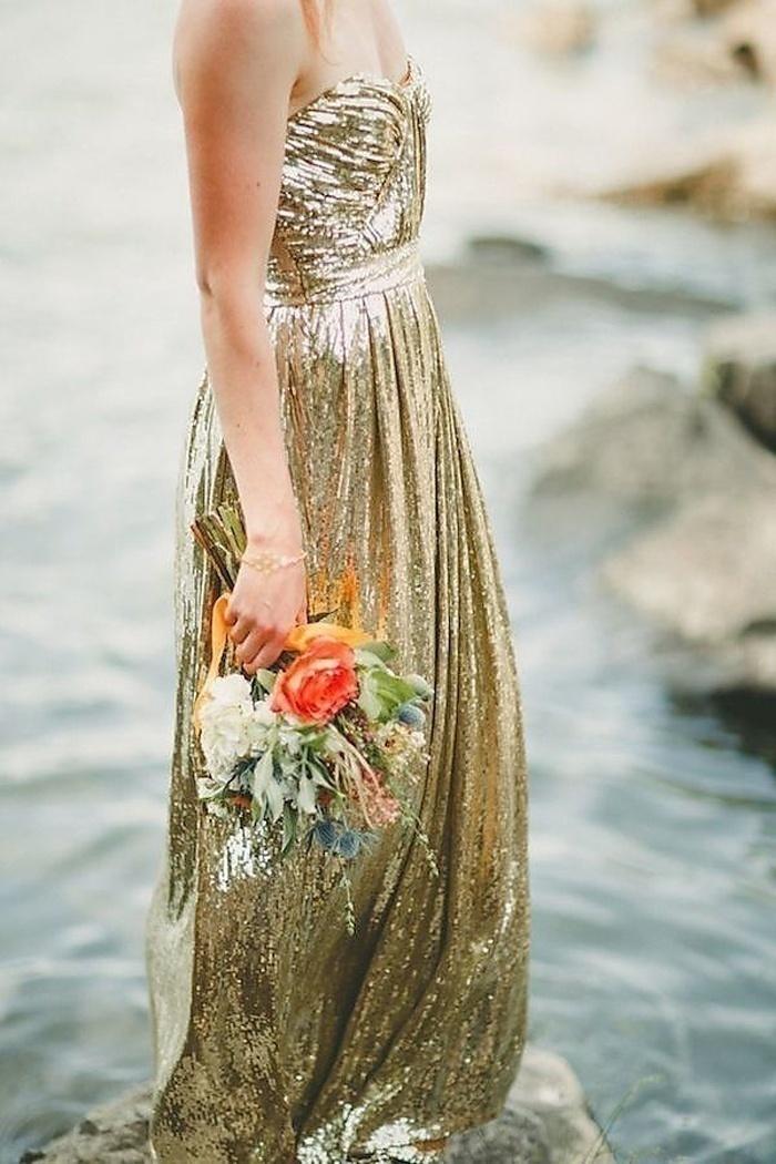 Metallic Wedding Dress
