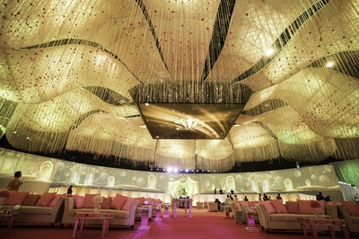 royal indoor venue decor