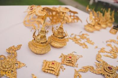 Thailand's local handicraft decoration for Rushi and Disha's wedding ceremony