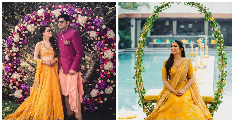 15+ Floral Wreaths for your Mehendi that are trending this wedding season!