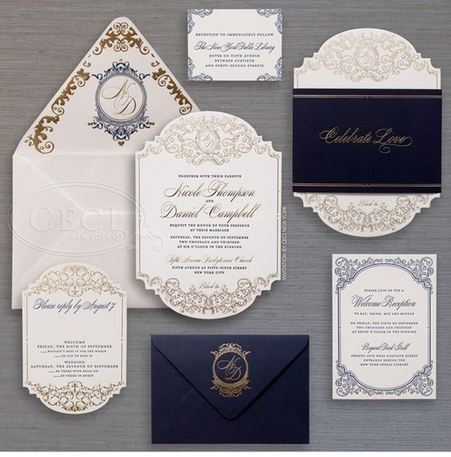 Monogram Wedding Invitations