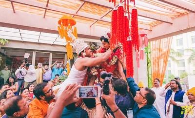 Varmala ceremony.