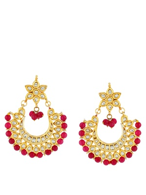 Imli Street Golden Red Danglers Drop