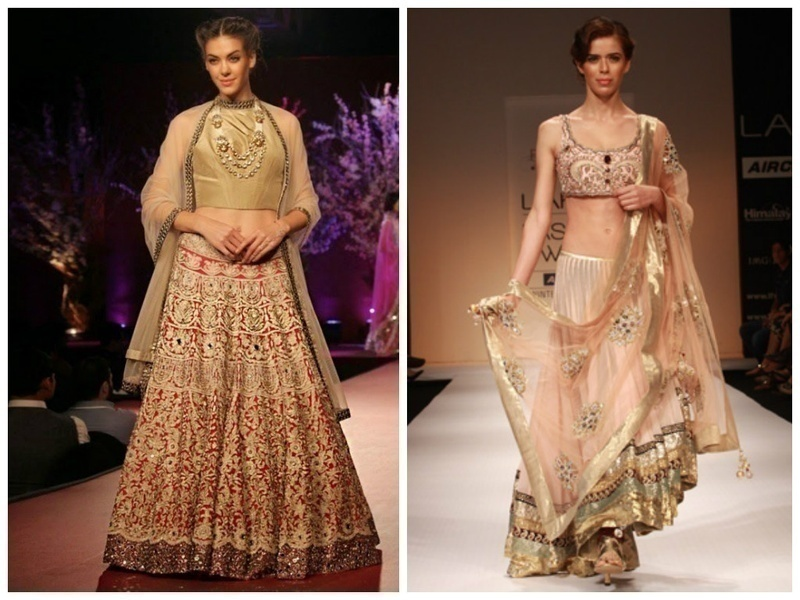 NUDE AND NEUTRAL LEHENGA COLOURS