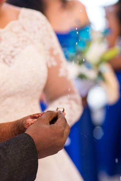 Bride Ujwala and Groom Francis getting engaged!