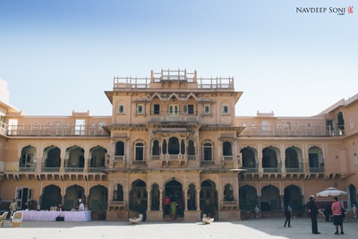 The grand wedding venue of the couple - Chomu Palace, Jaipur