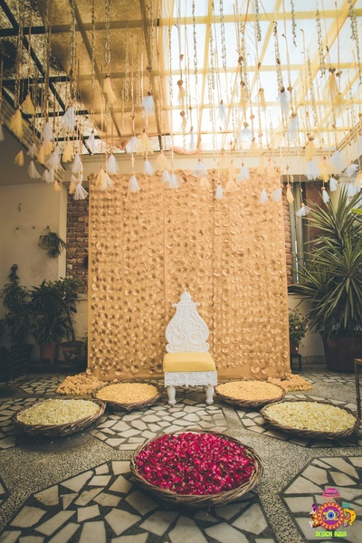 beautiful haldi decor