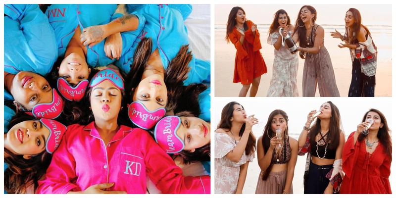 Krystle D'zouza's BFF's Bachelorette Weekend had everything from a cute PJ party to Champagne on the beach!