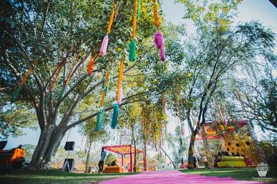 Beautiful and colourful Mehndi Decor