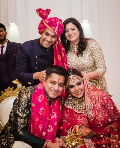 Siddharth and Sukanya with their close and loved ones.