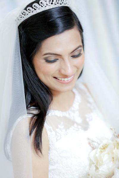 Elegant silver and diamond studded tiara
