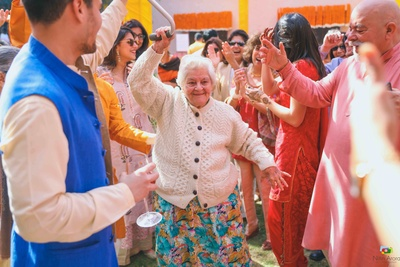 Dance and fun at the intimate mehndi function at a private Chattarpur farmhouse