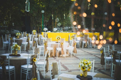 gorgeous dinning area decor for the wedding ceremony
