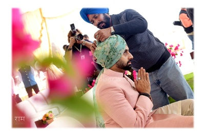 Brother of the bride, Abhishek Bachchan, preparing for the wedding ceremony