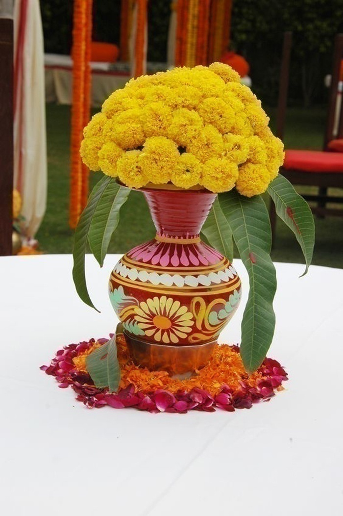 Add a Traditional Touch - Marigold Centerpieces