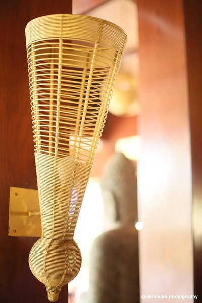 Contemporary wooden lamps