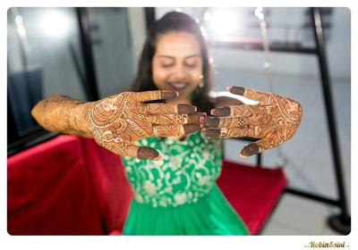 Intricately designed mehendi patterns