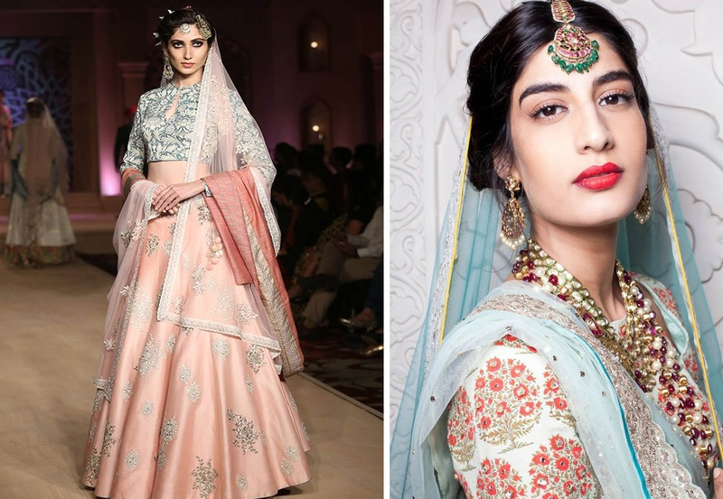 Modern Day Bridal Lehenga Choli Designs by Bollywood Fashion Designer Anju Modi