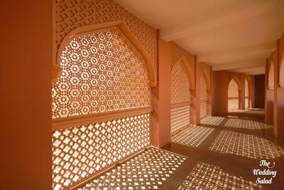 Mughal style designed wall panels of Shangri-la