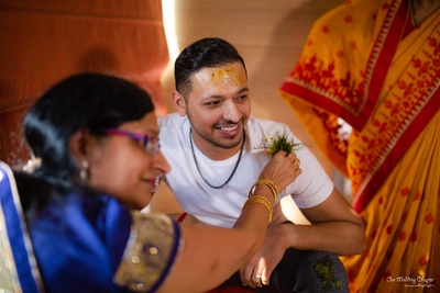 Prashant all set to begin the haldi ceremony