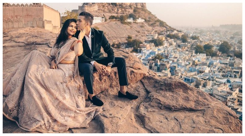 A breathtaking Jodhpur pre-wedding shoot with the most unique and beautiful outfits!