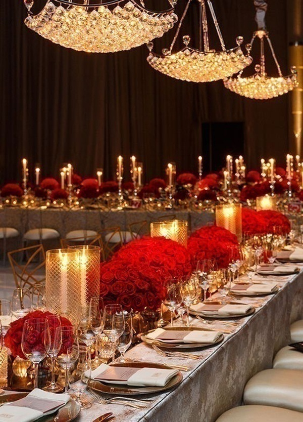 Wedding Table Setting & Trending Red White and Gold Wedding Theme Ideas for 2016 - Blog