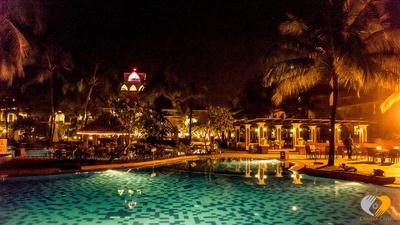 Evening view of the wedding venue- Renaissance, Goa