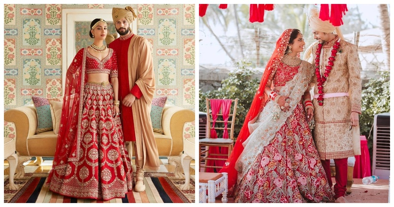 Navratri #Day3 - Red Outfit Inspiration for Brides & Bridesmaids