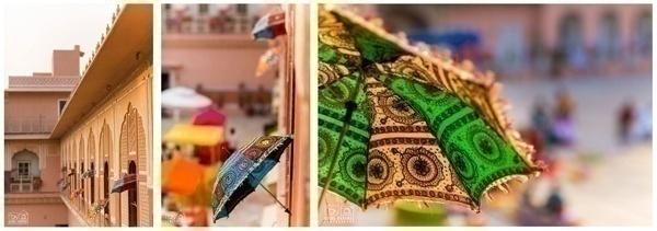 Colourful Indian Umbrellas