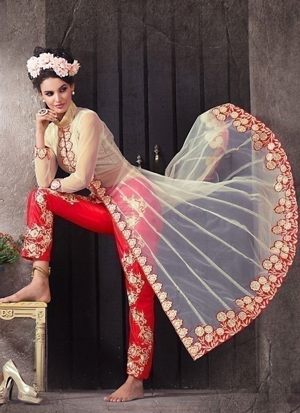 Worked Pants: New Versatile Style In Bridal Wear
