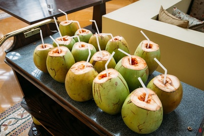 Treating them in the cultural way with coconut water