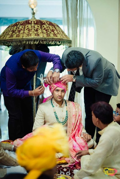Seher bandi ceremony of the groom before the wedding