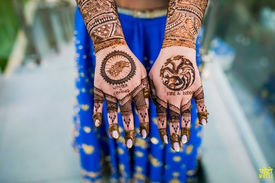 We simple can't get our eyes off this GOT themed mehendi design!