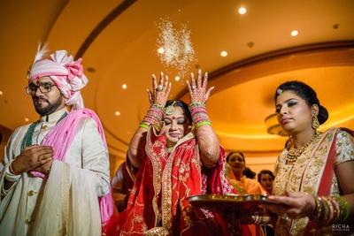 Bride and groom during their vidaai ceremony