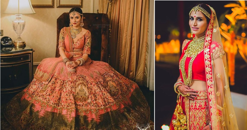12 Real Brides Who Got The Right Jewellery With Their Wedding Lehengas- #Weddingz2017Rewind!