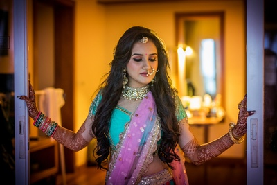 Bridal photography for sangeet ceremony