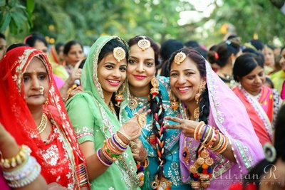 Traditional Rajasthani outfit teamed up with colourful jewellery