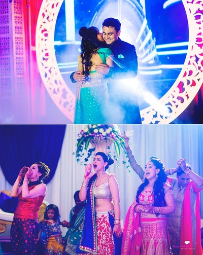 Guests having fun at sangeet night. Special moments captured.