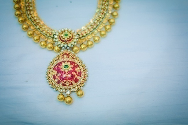 Pink gemstones and Gold