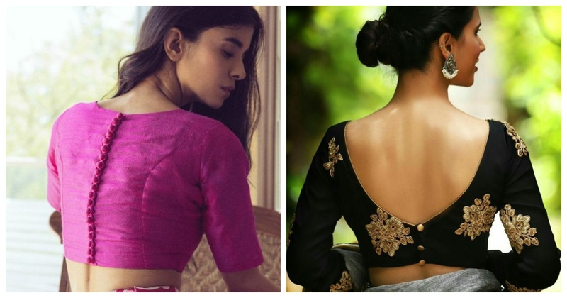 20 Simple Blouse Designs for your wedding functions that are chic and versatile!