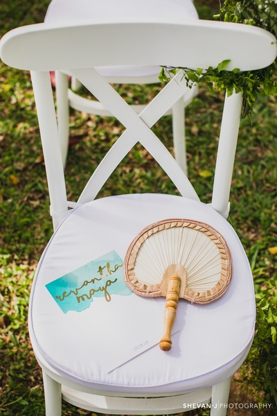 personalised table decor for the wedding ceremony