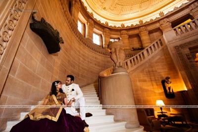 Dressed like royals for their pre wedding at the majestic Taj Umaid Bhavan