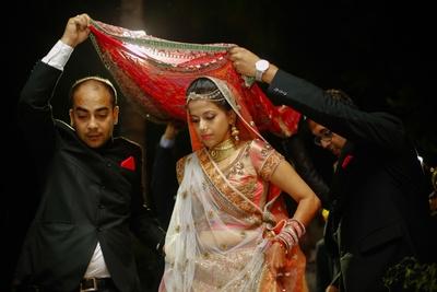 Bride entering for the wedding ceremony.