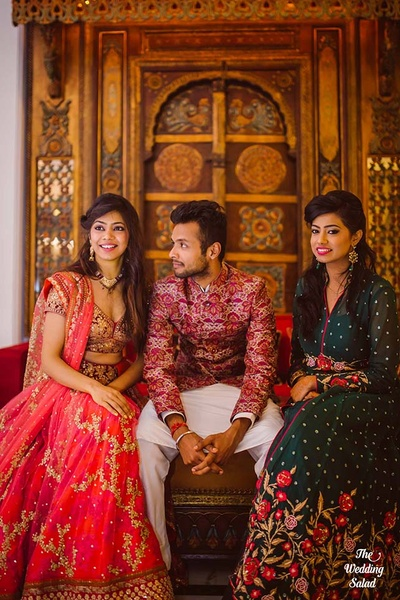 Friends and family candid photos at sangeet function