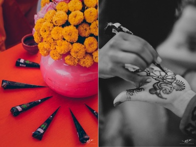 Floral decor for the mehendi ceremony