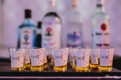 quirky shot glasses for the sangeet ceremony