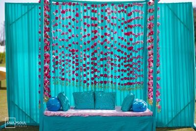 The Mehendi ceremony decor was colourful and fun.