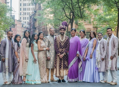 Amit with his entire family at the wedding