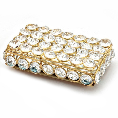 Boontoon Metal Framed Crystal Box for Jewellery or Cards